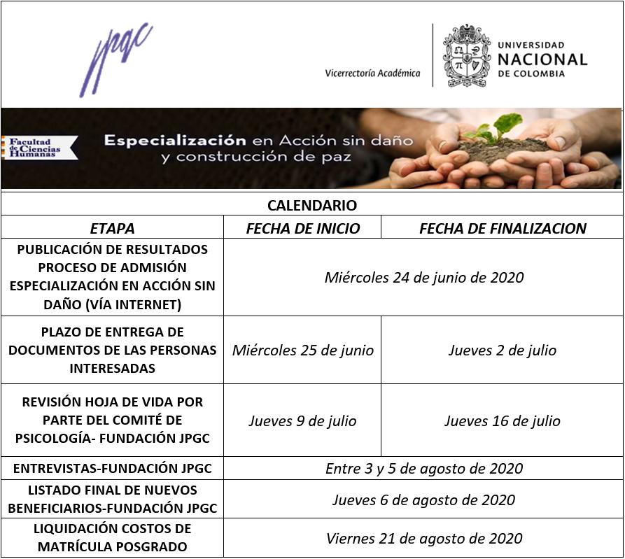 Calendario 2020-2S EspSinDaño
